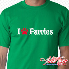 I Paw Furries, Love, Furry Fandom, Furdom, Tail, Yiff, Choose Color, 100% Cotton