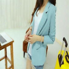 All-match Candy Color Long-sleeve Women Suit Slim OL Jacket Blazer Coat Outwear