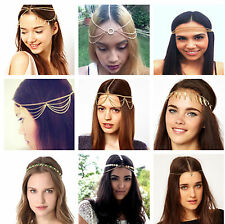 Bohemian Gypsy Boho Crown Headpiece Head Chain Hair Band Dance Fashion Jewellry