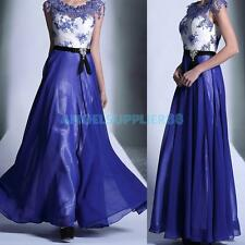 A#S0 Elegant Women Bridesmaid Homecoming Long Maxi Dress Floral Evening Gown