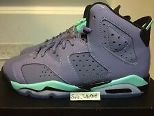Air Jordan 6 Retro Iron Purple Bleached Turquoise-Black 543390-508 GS Sz:4Y-7Y