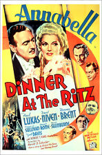 "Poster / Leinwandbild ""DINNER AT THE RITZ, David Niven, Annabella, 1937"""