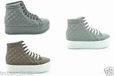 a14 Jc Play by Jeffrey Campbell scarpe donna sneakers piattaforma HOMG QUILTED