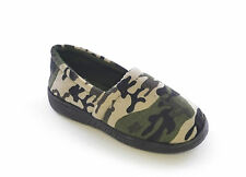 Boys Army Print / Camo Fleece Lined Slippers