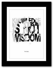 ❤ FRANK ZAPPA ❤ song lyrics/quote typography poster art print - A1 A2 A3 A4 #7
