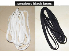 Nike White & Black LACES for Air Max 1 90 95 97 Jordan Force 1 Dunk & any Brands