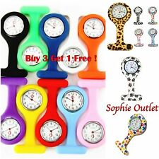 New Fashion Silicone Nurse Watch Brooch Tunic Fob watch with  FREE BATTERY