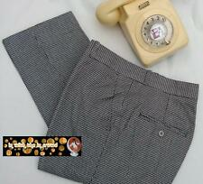 Sta Prest Dogtooth Trousers Slim Fit Relco 60s 80s Mod Skin Waist  30 - 40 Retro