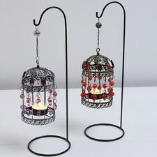 MOROCCAN HANGING TEA LIGHT HOLDERS BIRD CAGE FREE STANDING CANDLE WEDDING