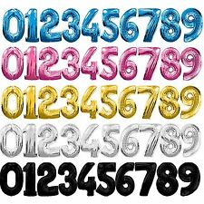 """30"""" Large Foil Number Balloons Helium 1st 2nd 18th 21st 30th 40th 50th Birthday"""