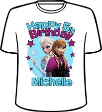 Many Tee Colors-Personalized Frozen The Movie Birthday T-Shirt