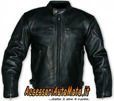 GIACCA MOTO GIUBBOTTO CUSTOM A-PRO ROAD STAR PELLE MOTORCYCLE JACKET - TAGLIA S