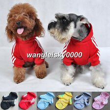 Pet Puppy Dog Cat Coat Cute Clothes Hooded Sweater Coat Costumes 6 Color 5 Size