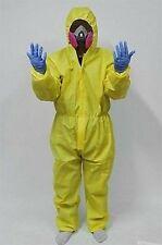 Breaking Bad Hazmat Lab Suit+Mask+Gloves Walter White Halloween Cosplay Costume