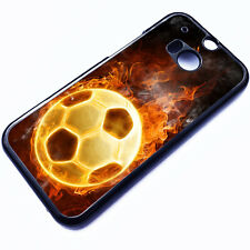 Cover for HTC One M8 Football Ball Fire Boots Cool Cool Boys Phone Case ✔8013