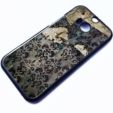 Cover for HTC One M8 Wallpaper Floral Retro Pattern Vintage Phone Case ✔5037