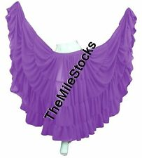 TMS MED PURPLE 25 Yard 4 Tier Skirt Belly Dance Gypsy Costume Troup Tribal JUPE