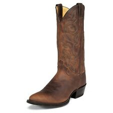 MENS JUSTIN BROWN BAY APACHE LEATHER WESTERN COWBOY BOOT 2253