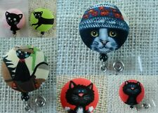 Black Cats~Retractable ID/Name Badge Holder Reel~CLICK FOR MORE