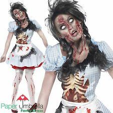 Zombie DOROTHY Halloween Fancy Dress Costume Womans outfit White Face Paint