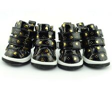 Pet Dog Boot Sneakers Tennis Shoes Hearts Black Boots, Size XS-XL