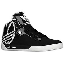 Adidas Originals Attitude Vulc Big Logo Sneakers, Black White G67454 Hard Court