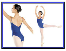 NEW! WOMENS DANCE BALLET LEOTARD WITH CROSSED A V-CUT BACK. 6 COLORS! (D4670)