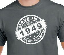 Made in 1949 all original parts 65th birthday crazy T Shirt Humor Unisex funny