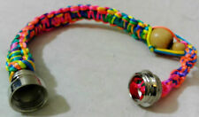 One Wooden Wood Unisex Bead Tobacco Pipe Bracelet 260mm Rainbow Colour