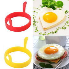 1 2PC Kitchen Tool Silicone Fried Fry Oven Poacher Egg Ring Mould Mold
