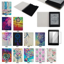 Pink Dream PU Leather Folio Case Cover For Amazon Kindle Paperwhite 1 2&3G Wifi