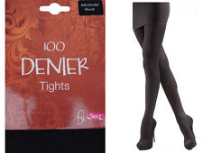 Ladies Black Thermal Tights Thick 100 Denier Winter Warm