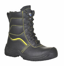 Steel Toe Combat Safety Boots POLICE ARMY SECURITY Portwest FW05 Fur Lined Scuff