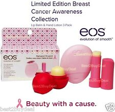 EOS Limited Edition Lip Balm & Hand Lotion - Breast Cancer Awareness 3-pack 2014