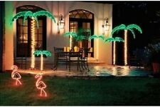Tropical Palm Trees Rope Light Holographic Indoor Outdoor Roman Lights 3 Sizes