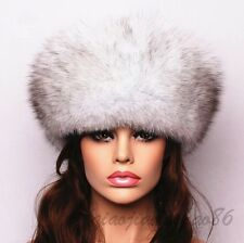 Real Fox Fur Women's Hat Winter Russian Hat Adjustable Trapper Hat Free Shipping