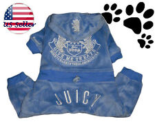 C21 cute juicy couture embroidery pet dog clothes tracksuit sweatshirt blue