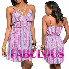NEW SEXY FLORAL SUMMER MINI DRESS Size 6 8 10 12 HOT PARTY CASUAL BEACH CLOTHING