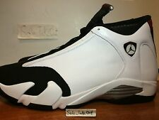 "Nike Air Jordan 14 XIV Retro 2014 ""Black Toe"" White Black Red GS & MEN SZ:4Y-15"