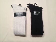 NEW@ Women's Lauren Ralph Lauren Angora Knee High Socks 33716   - Choose Color