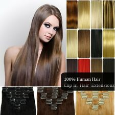 Full Head Clip in 100% Remy Human Hair Extensions16 - 26 inch ID1133 ID22