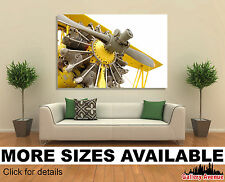 Wall Art Canvas Picture Print - Vintage Airplane Engine Propeller Close-up 3.2