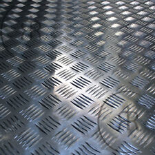 2mm 5 Bar Aluminium Checker Plate, Treadplate, Sheet Plate Guillotine Cut