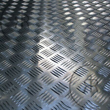 500mm x 500mm x 2mm Thick 5 Bar Aluminium Checker Plate, Treadplate, Sheet Plate