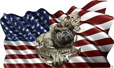 US Marine corp devil dog american flag vinyl graphic decal motorhome rv mural