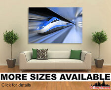 Wall Art Canvas Picture Print - Fast Train in Motion B01 3.2