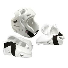 5 Piece White ProForce Thunder Sparring Gear Set Head Hand Foot Guards MSRP $119