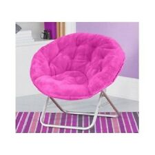 Fun Saucer Chair Multiple Colors Faux-Fur Dorm Room Boys Girls Teens Kids NEW