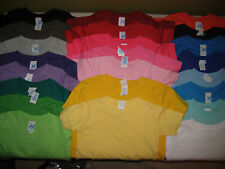 100% Cotton Fine Jersey T Shirt Blanks Soft Toddler 2T 3T 4T 5/6T NEW COLORS
