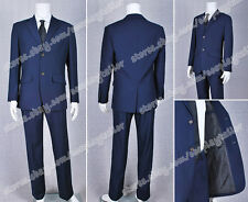 Sherlock Holmes Jim Moriarty Costume Suit Jacket+Pants+Shirt+Tie High Quality